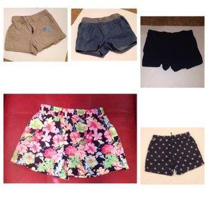 Girls Sz 6/6x shorts (5) pairs
